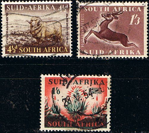 South Africa 1953 Hendriksz Set Fine Used SG 146 8 Scott 195 7 Other South African Stamps HERE