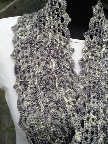 This is a lace cowl pattern.