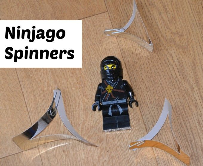 Easy #Ninjago spinners #science #education #lego #crafts