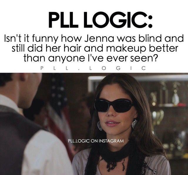 HA... she is not blind#spoiler alert