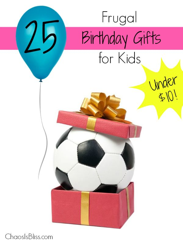 On a budget? These frugal birthday gift ideas for kids will give you a ton of easy ideas for the next birthday party your child attends! ChaosIsBliss.com
