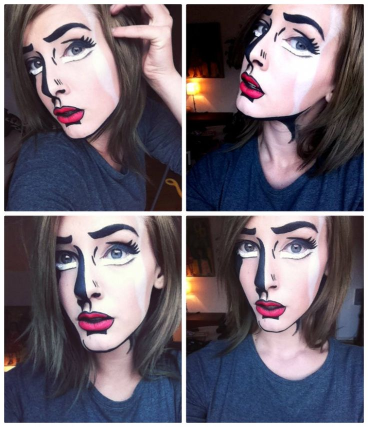 This is awesome! Cartoon makeup