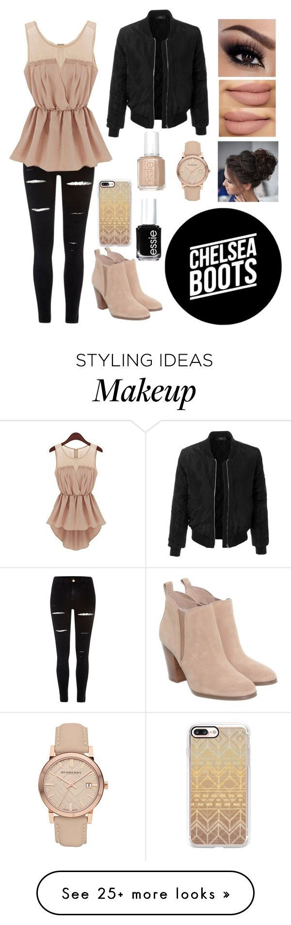 """# Rebel Beauty"" by divaqueen2002 on Polyvore featuring River Island, Michael Kors, LE3NO, Casetify, Essie and Burberry"