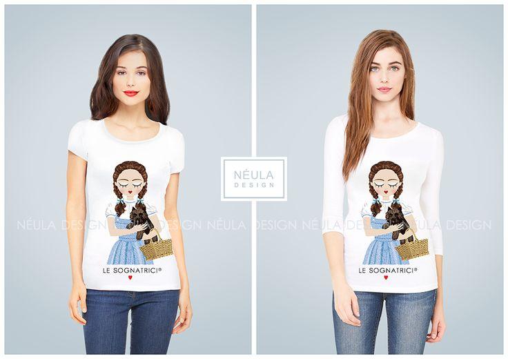 T-shirt Le Sognatrici - Dorothy - Wizard of Oz - Il mago di Oz - www.lesognatrici.com