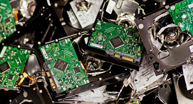 Destroyed failed drives