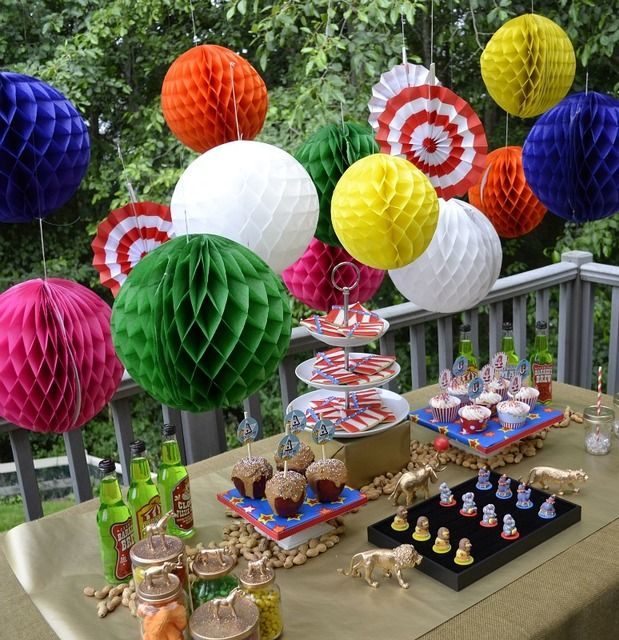 """Photo 1 of 9: Circus / Birthday """"Run Away With The Circus styled dessert table""""   Catch My Party"""