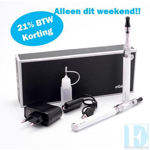Daar is ie weer, de E-Rokershop weekend knaller, #elektrischesigaret. Dit weekend (25 & 26 januari) 21% korting op een giga mooie eGo-C Twist. Dat betekent niet €54,95 maar €45,41!!! Dit is inclusief een gratis flesje E-Rokershop E-liquid naar keuze. Stop met roken en start met dampen bij E-Rokershop.  http://www.e-rokershop.nl/eGo-C-Twist-Set
