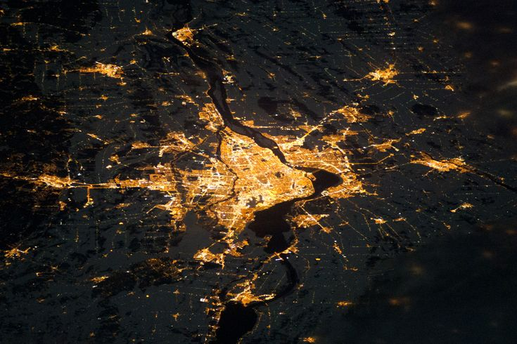 montreal by night, from space