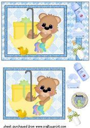 De leuke Jongen van de Baby draagt Kaart Front 2