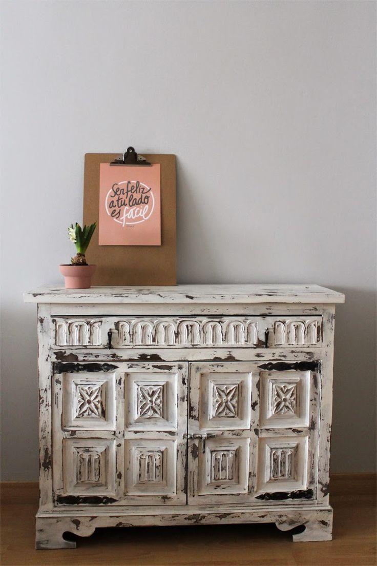 ideas en polvo: mi mueble decapado con CHALKPAINT ...