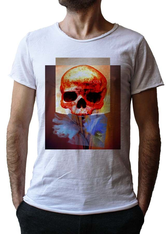 Men's T-Shirt FIRE SKULL - Made in Italy - 100% Cotton - SKULL COLLECTION http://www.doubleexcess.com/