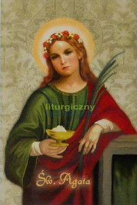 Ikona z certyfikatem - wizerunek Świętej Agaty