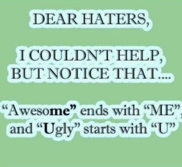 Funny Quotes And Sayings About Haters. QuotesGram