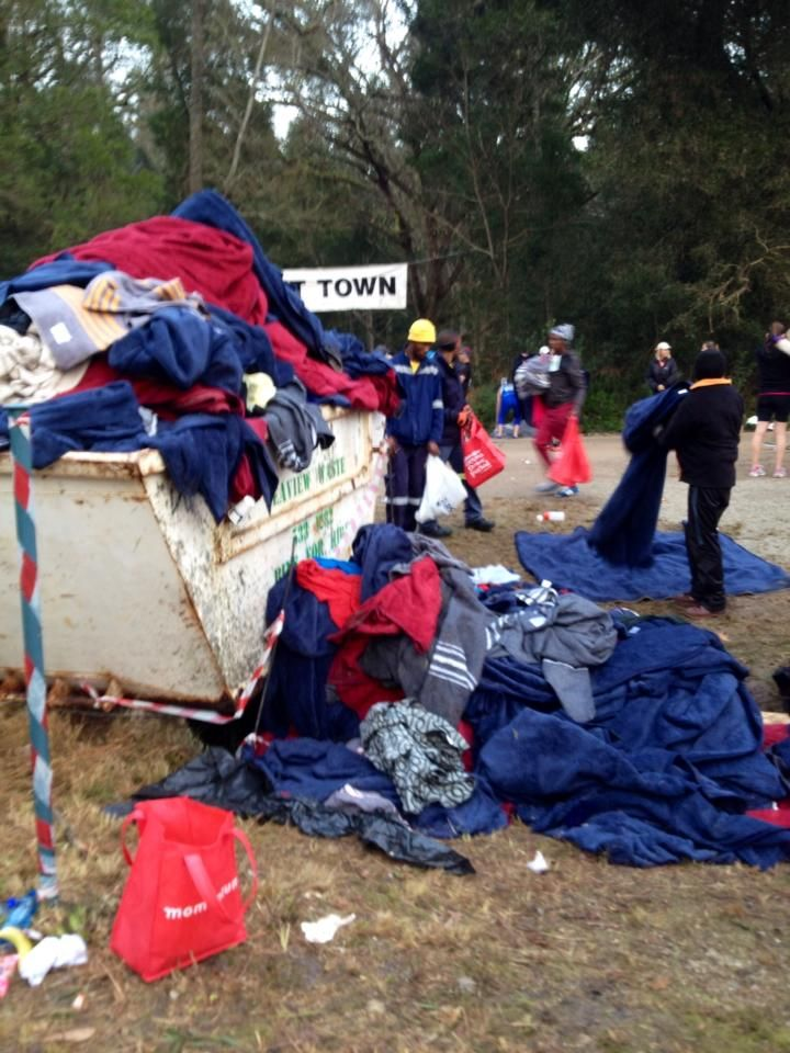 blankets and clothing collected for those in need
