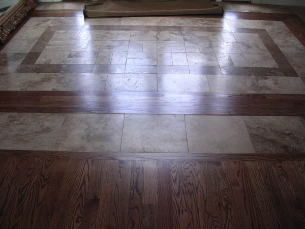 78 best images about wood tile floor combo on pinterest Hardwood and tile floor designs