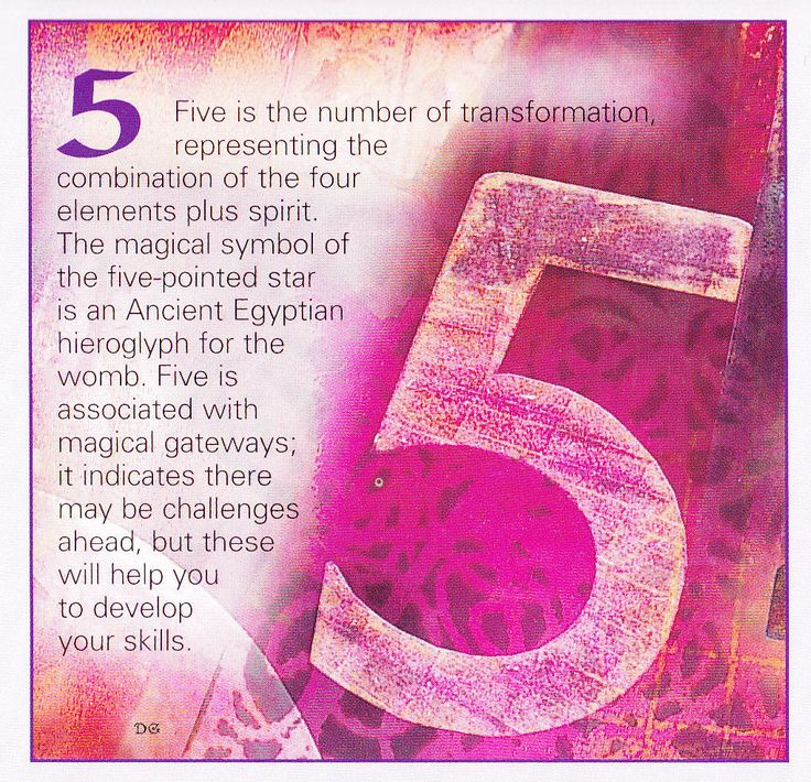 Numerical associations the number 5
