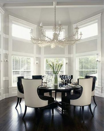 Elegant Dining with Black and White