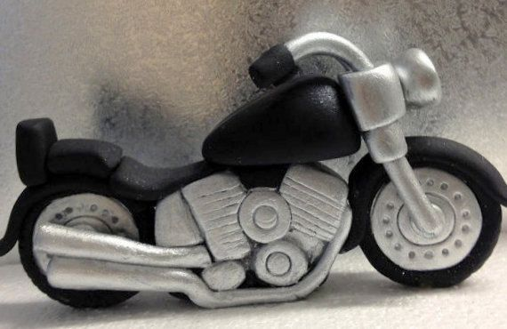 Fondant Motor Bike Topper/ Bike/ Motor Cycle by LittleOrchidStudio