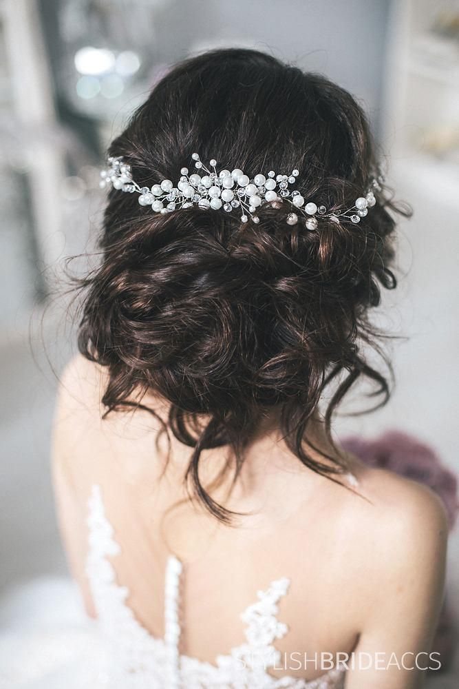 Pearl Сrystal Hair Comb Vine, Hair Сrystal Comb, Wedding Pearl Hair Comb , Hair Comb, Pearl Comb, Bridal Hairpiece, Pearl Hair Comb Earrings by StylishBrideAccs on Etsy
