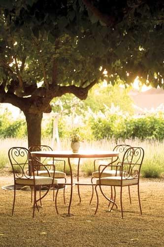 patio at hall winery in st. helena  #wineencyclopedia #onesothebys    [photo via winecountry.com]