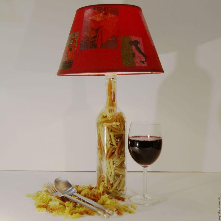"""Купить Светильник """"Паста-Перья"""" - лампа, светильник, подарок, подарок на новый год, Новый Год, интерьер"""