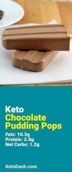 Keto Chocolate Pudding Pops