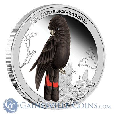 2013 Australian 1/2 oz Silver Red Tailed Black Cockatoo http://www.gainesvillecoins.com/category/293/silver.aspx