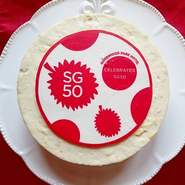 Do you know what is so #special about this #cake? It's a #RedandWhite #Durian #Mousse Cake to celebrate #Singapore #GoldenJubilee! Now available for pre-order. Collection from 1-10 Aug 2015. Price:$50 nett each. #limited #gwphdurian #dessert #sgfood #sg50 #musttry #igsg #foodstagram #delicious #yummy