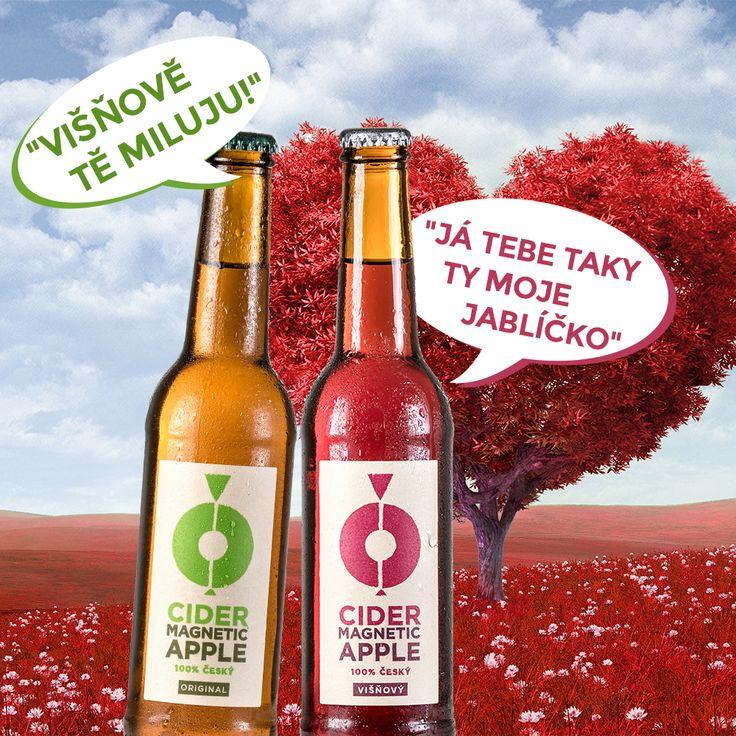 Valentines day promotion for cider magnetic apple