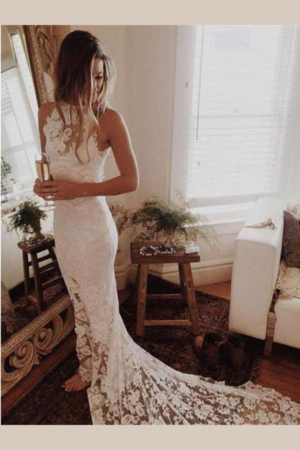 Custom Made Comfortable Wedding Dresses Lace, Custom Made Wedding Dresses