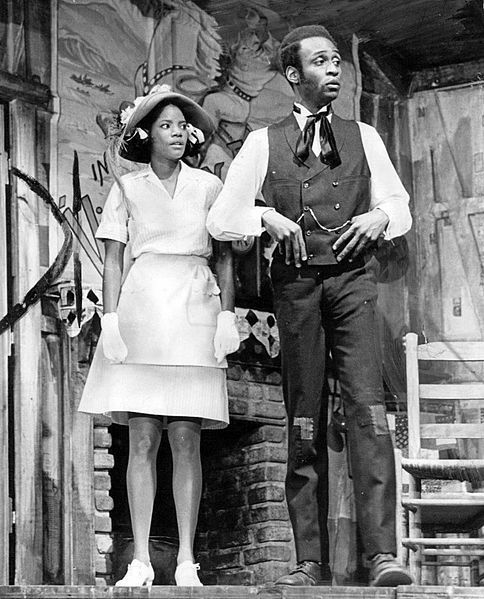File:Melba Moore and Cleavon Little in Purlie, 1970, public domain via Wikimedia Commons.