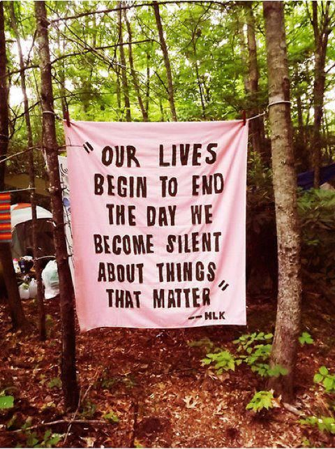 Our lives begin to end the day we become silent about things that matter!