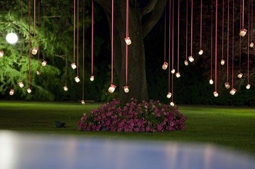 Boda en un jardin de noche google search wedding for Decoracion de arboles de jardin