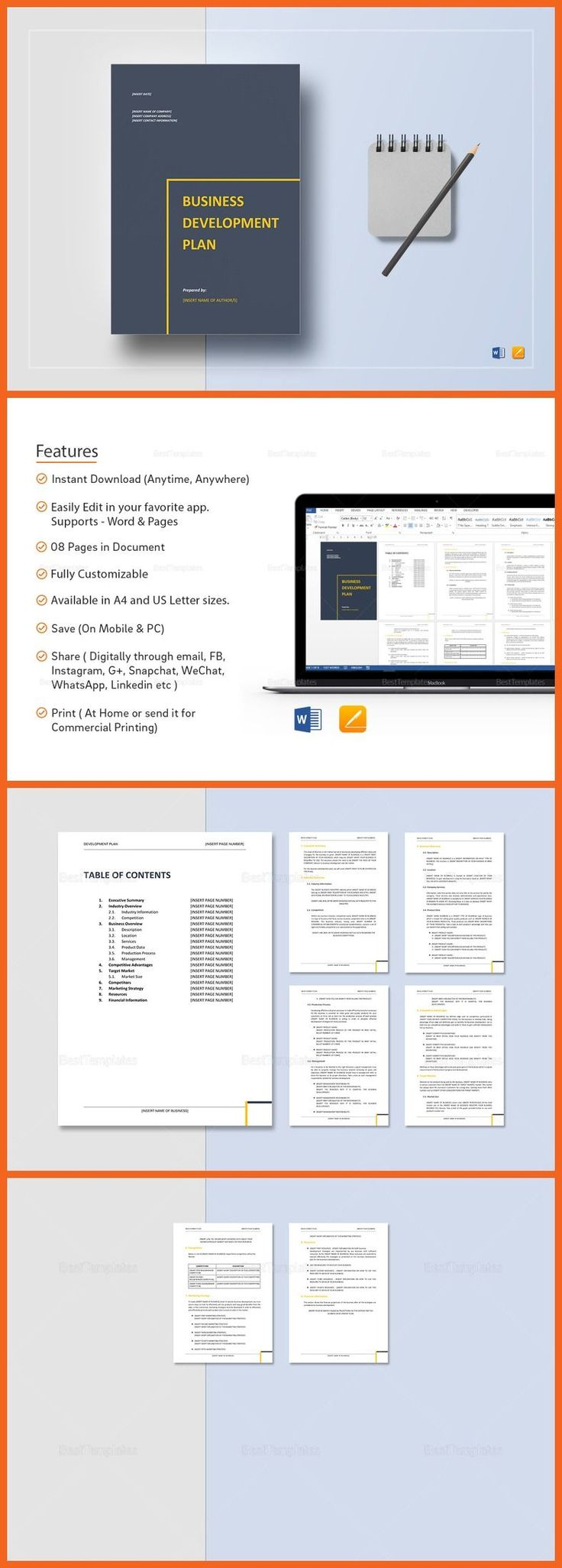 Best  Business Plan Templates  Printable  Professional