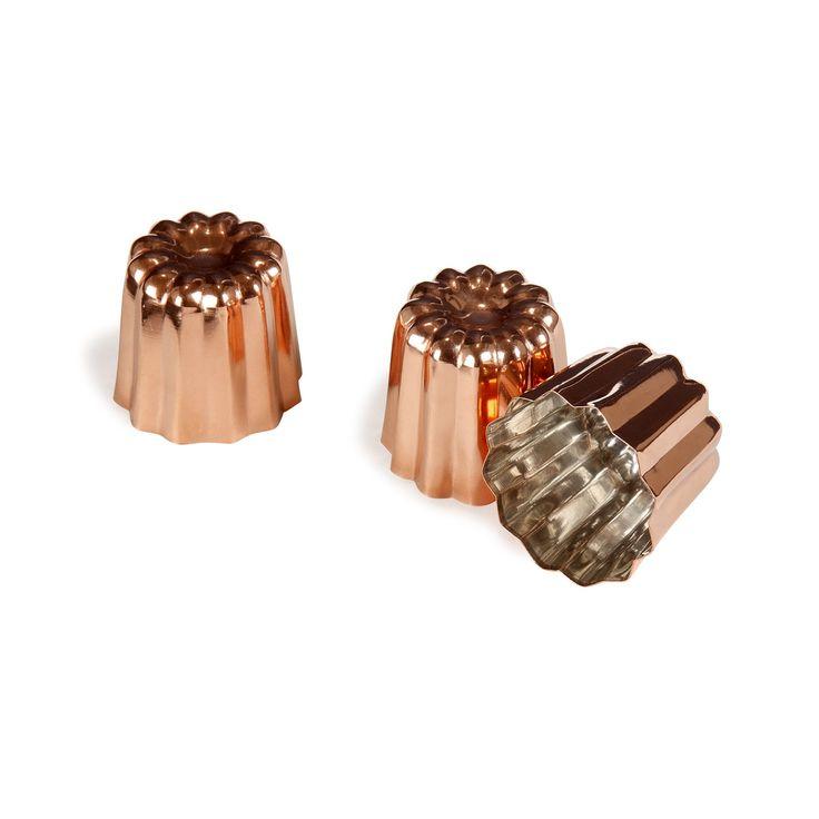 Lot de 3 moules à cannelés en cuivre Cuivre - Edouard - Les plats à four - Ustensiles de cuisson - Ustensiles de cuisine - Décoration d'intérieur - Alinéa