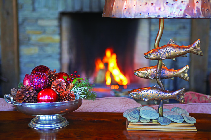 Cuddle up in front of our open fireplace, Blanket Bay, Glenorchy