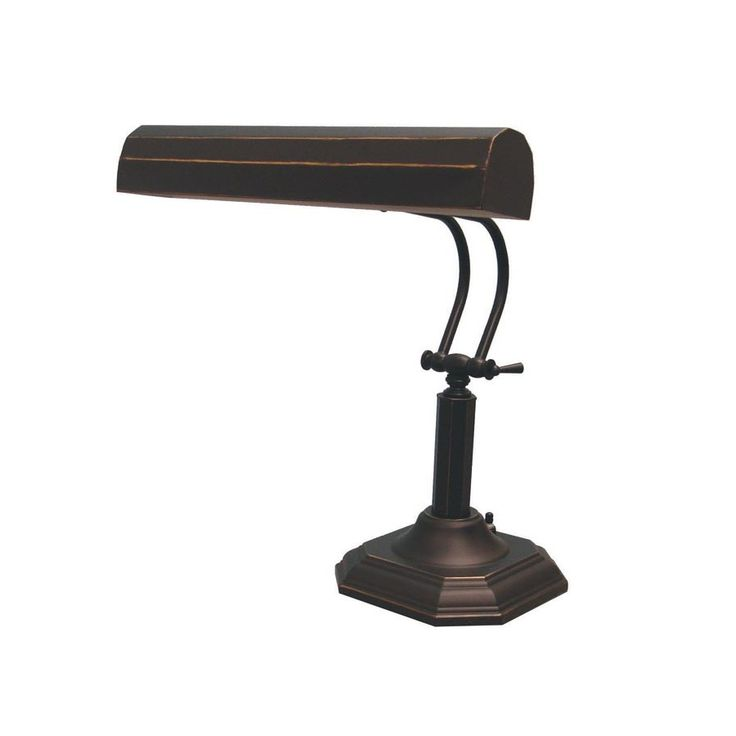 Lite Source 18.5-in Adjustable Bronze Contemporary/Modern Standard Desk Lamp with Metal Shade