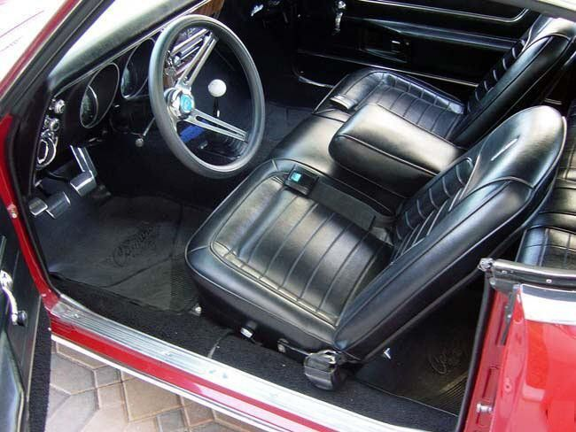 1968 Camaro Convertible Deluxe Front Bench Seat Upholstery
