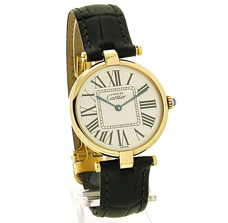 Must de Cartier Ronde Vermeil. Refnr: 590003 - article number: CA0470 #watch #cartier #cartierwatches | cartier watches women | cartier horloge dames | vintage watches | vintage horloges | horloges dames | SpiegelgrachtJuweliers.com
