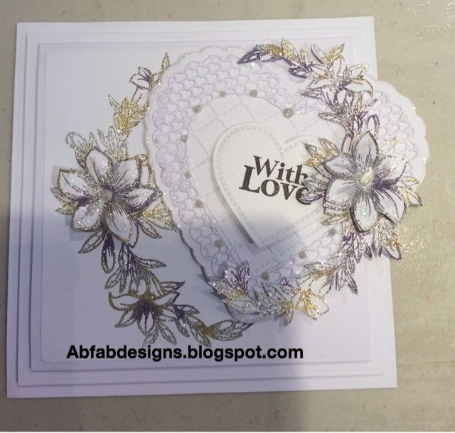 AbFab Designs: Floral crest
