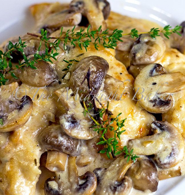 Recipe for Mushroom Asiago Chicken.