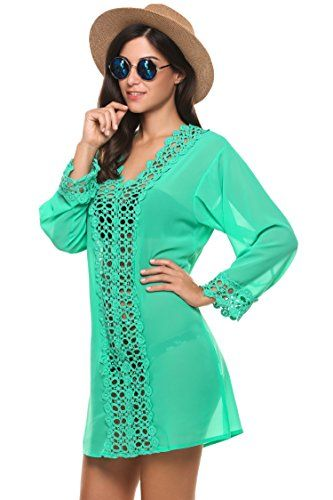 Avidlove Tunika Damen strand tunikakleid chiffon Spitze atmungaktiv Bluse große größen