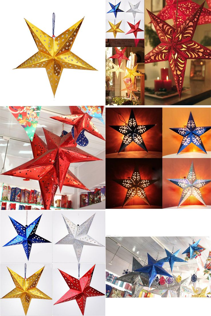 Christmas decoration man falling off roof -  Visit To Buy Newest 30cm Laser Paper Five Pointed Star Christmas Decorations Xmas