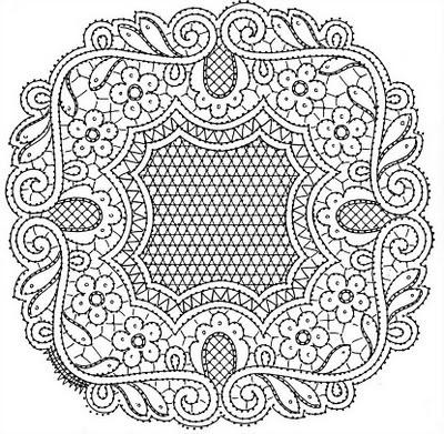 "Bobbin Lacemakers Association ""Ibn al Baytar"" lace pattern"