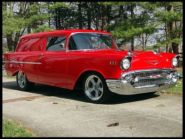 1957 Chevrolet Sedan Delivery  350/420 HP, 4-Speed this one almost  made me faint Gorgeous