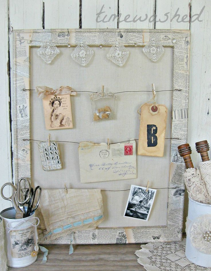 193 best images about shabby chic on pinterest vintage for Cork board inspiration