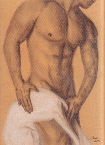 'Akt Mann' von pjb-art bei artflakes.com als Poster oder Kunstdruck $20.79
