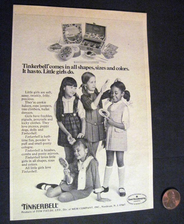 Sheesh. Tinkerbell really had a thing for stereotyping little girls.   14 Weird Vintage Beauty Ads