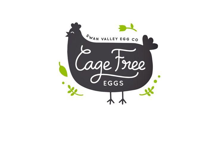 Swan Valley Egg Co Cage Free eggs logo design by Dessein, Australia