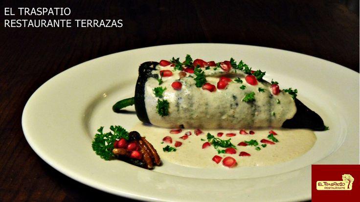 Chiles en Nogada, plato de temporada, no te lo puedes perder en Septiembre.